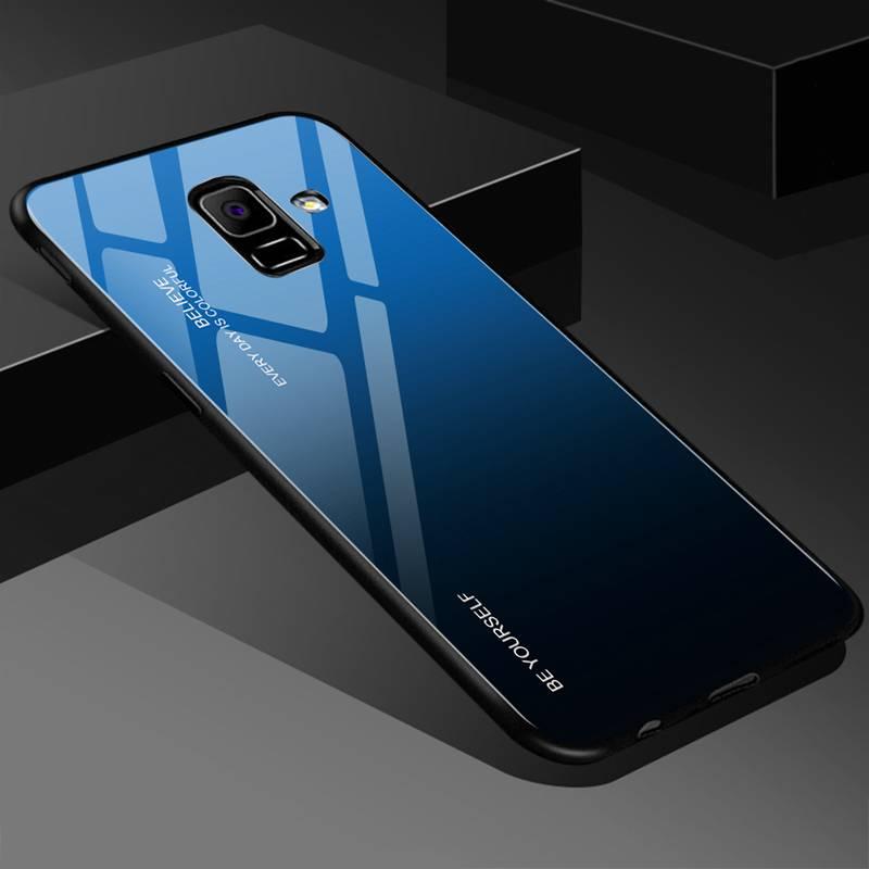 Glass Case For Samsung Galaxy S8 S9 S10 Plus S10e A50 A30 70 A7 J6 A8 2018 Note 8 9 M30 M20 Aurora Colorful Cover Samsung Case