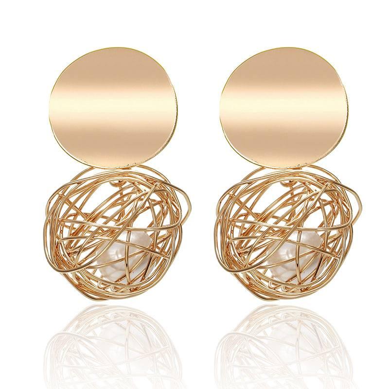 Fashion Statement Earrings Big Geometric earrings For Women Hanging Dangle Earrings Drop Earing modern Jewelry Earrings