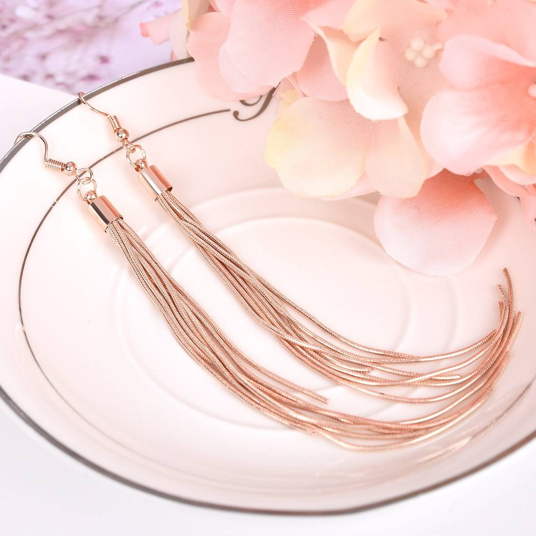 Vintage Long Earrings Silver color Tassel Earrings High Quality Earrings Fashion Jewelry for Women Best Gift 2018 Earrings