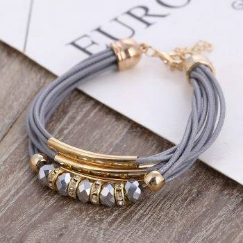 Bracelet 2019 New Fashion Jewelry Leather Bracelet for Women Bangle Europe Beads Charms Gold Bracelet Christmas Gift Bracelets