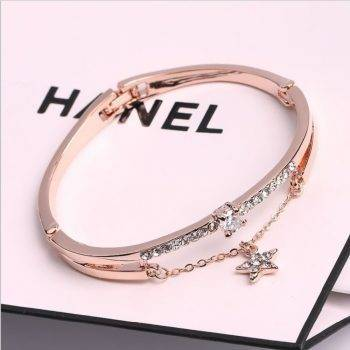 Luxury Famous Pandora Jewelry Rose Gold Stainless Steel Bracelets & Bangles Female Heart Forever Love Charm Bracelet For Women Bracelets Wedding & Engagement Jewelry