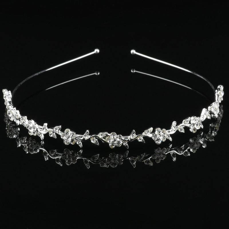Luxury Princess Wedding Party Hair Jewelry Silver Color Girl Heart Crystal Pearl Bridal Prom Headband Jewelry Wedding & Engagement Jewelry