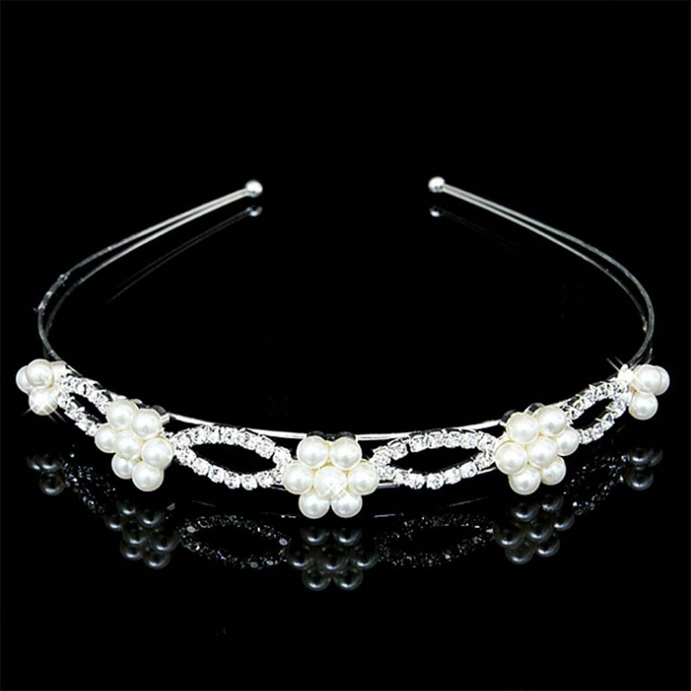Princess Crystal Tiaras and Crowns Headband Kid Girls Love Bridal Prom Crown Wedding Party Accessiories Hair Jewelry Wedding & Engagement Jewelry