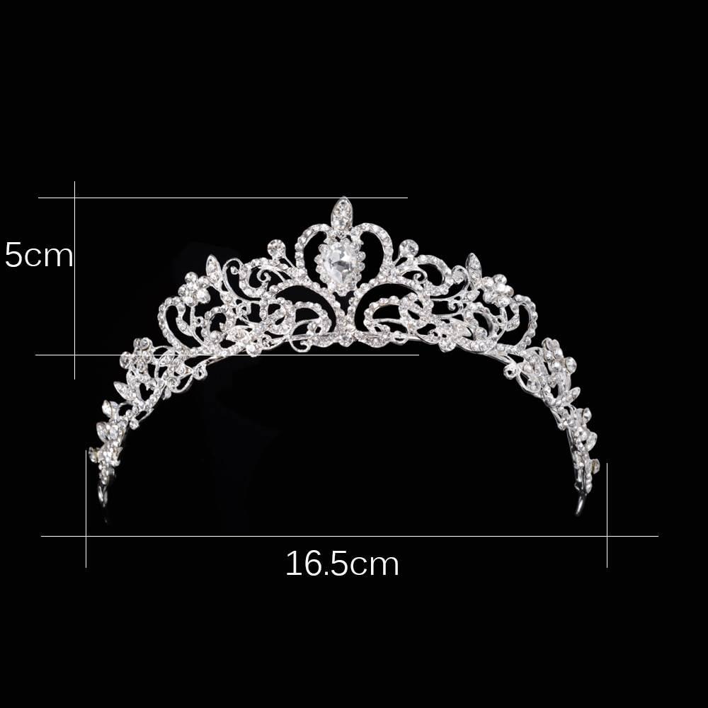 2018 Women Princess Crown Headband Crystal Rhinestone Tiara And Crowns Hair Band Jewelry Silver Bridal Hair Accessories Wedding Jewelry Wedding & Engagement Jewelry