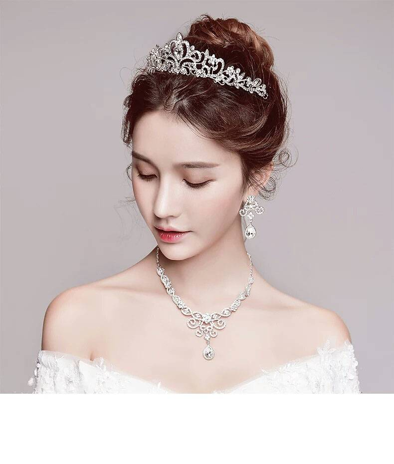 2018 Women Princess Crown Headband Crystal Rhinestone Tiara And Crowns Hair Band Jewelry Silver Bridal Hair Accessories Wedding Jewelry Wedding & Engagement Jewelry