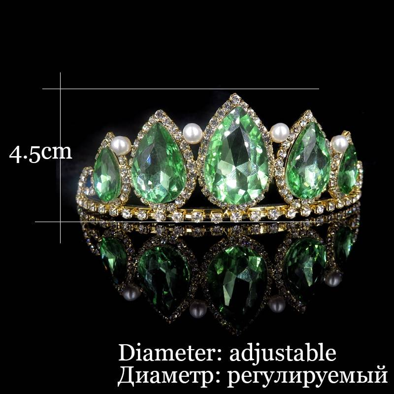 Princess Queen Crown Diadem Baroque Bridal Tiaras and Crowns Headband Hair Accessories Wedding Bridal Silver Crystal Headpiece Wedding & Engagement Jewelry