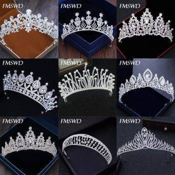 Diverse Silver Gold Color Crystal Crowns Bride tiara Fashion Queen For Wedding Crown Headpiece Wedding Hair Jewelry Accessories Wedding & Engagement Jewelry