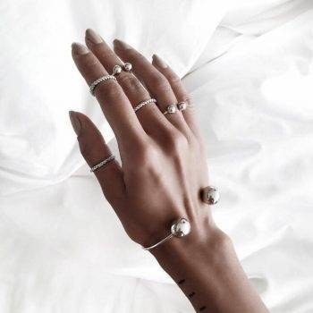 Tocona 6pcs/Set Fashion Bohemia Simple Hand Cuff Charm Bracelet Bangle for Women Silver Bracelets Femme Jewelry Gift 3859 Bracelets