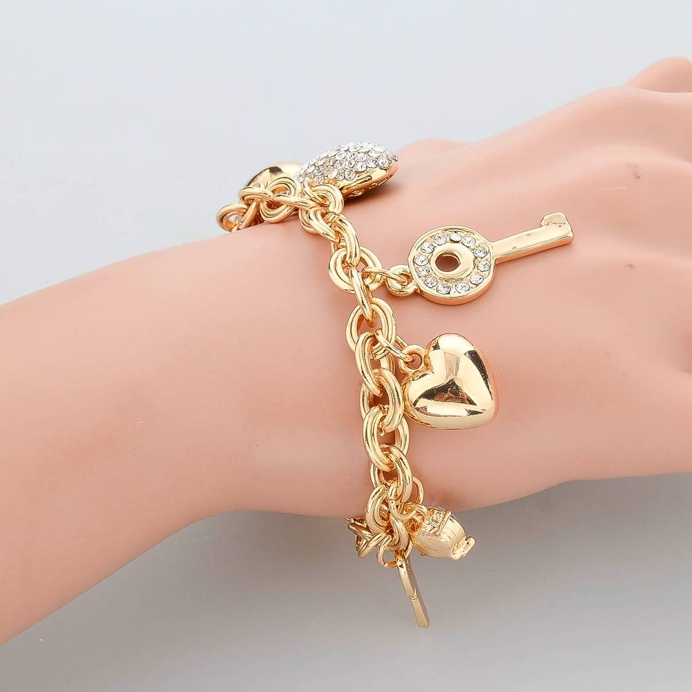 Bracelets Bangles For Women Gold Color Bracelet Austrian Crystal Chain Pulseras Bracelets