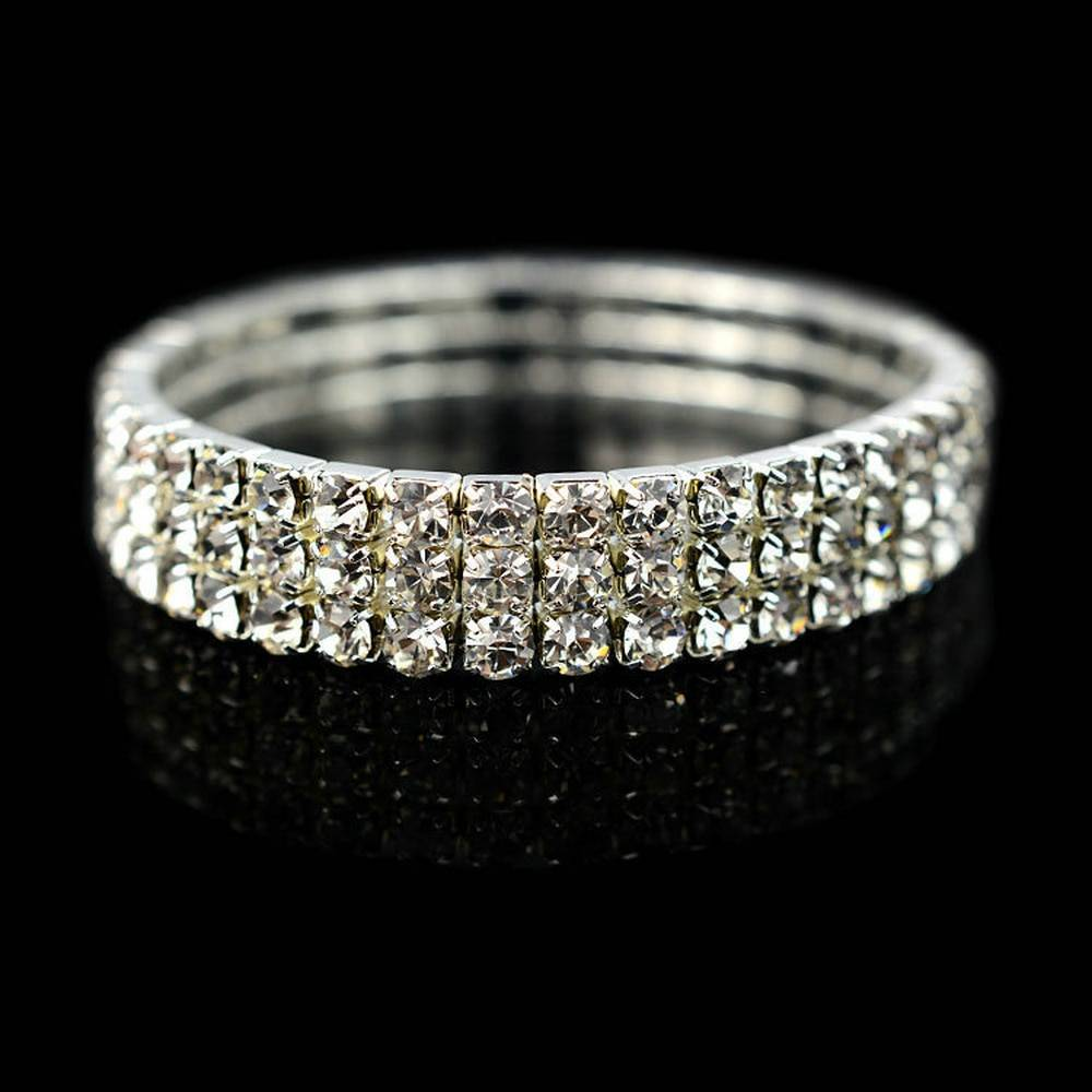 5 Styles Woman Bracelet Crystal Rhinestone Stretch Bracelet Bangle Wristband Elastic Wedding Bridal Jewelry Bracelets Wedding & Engagement Jewelry