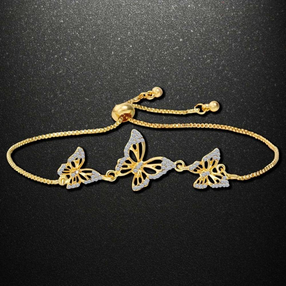 2019 Summer Latest DIY Popular Lucky Girls Kids Charms Zircon Copper Bracelet For Women kawaii jewelry Bracelets
