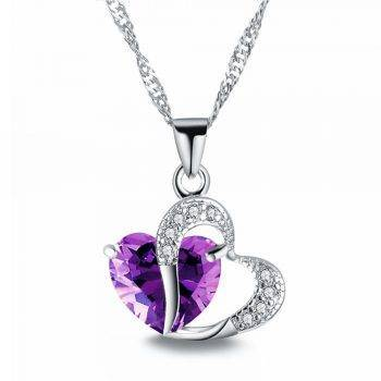 2018 Sell like Hot Cakes 6 colors Top Class lady Fashion Heart Pendant Necklace Crystal jewelry New Girls Women Jewelry Necklaces