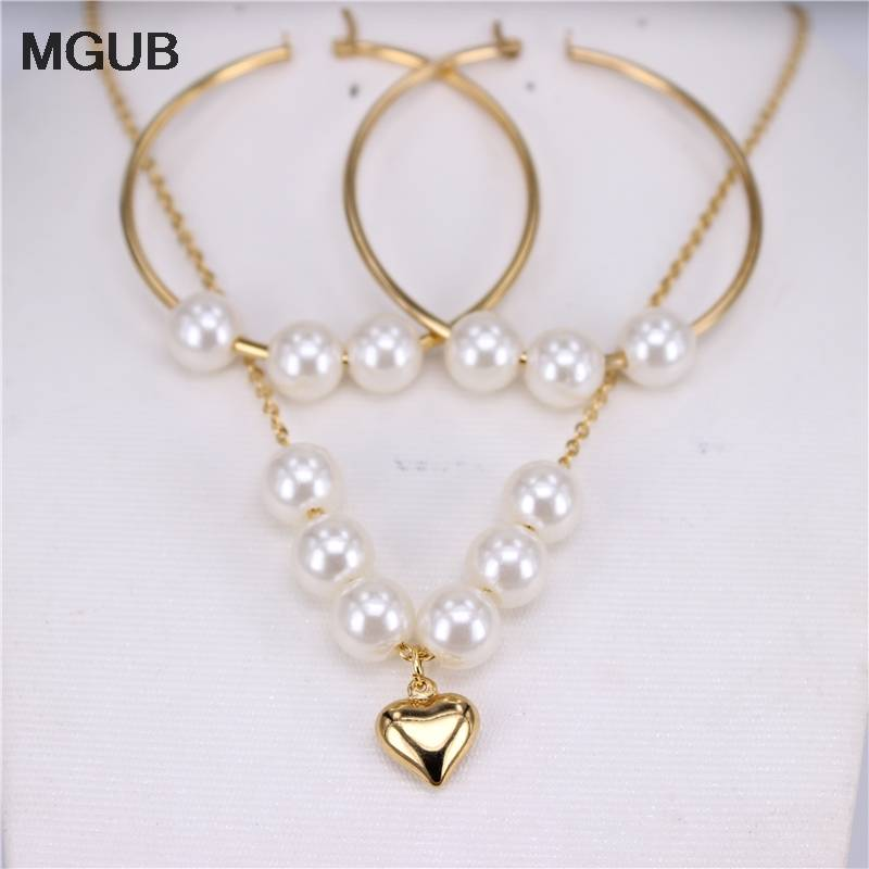 New stainless steel beads (earrings necklace) manual suit 4 options Earrings free choice 30mm-70mm Free shipping Jewelry Set