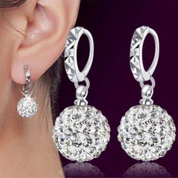 Brand silver earrings Shambhala luxury zirconia earrings female popular original brand of high-end vintage stud earrings Hot Earrings