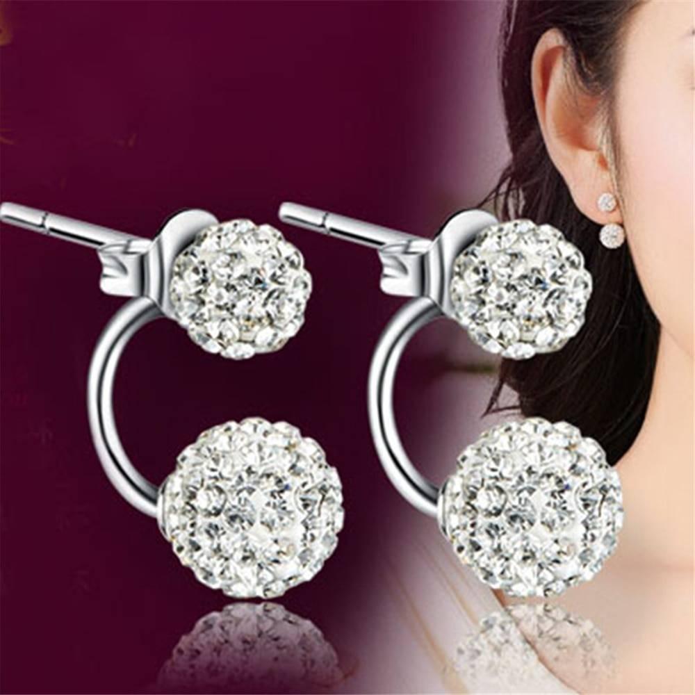 Brand silver earrings Shambhala luxury zirconia earrings female popular original brand of high-end vintage stud earrings Hot Earrings