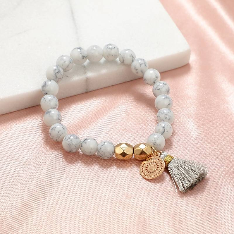 30 Styles Mix Turtle Heart Pearl Wave LOVE Crystal Marble Charm Bracelets for Women Boho Tassel Bracelet Jewelry Wholesale Bracelets