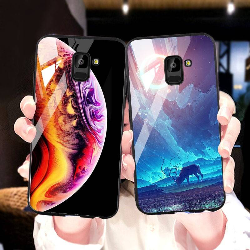 Cases For Samsung Galaxy A7 2018 A750F Note 8 A8 Plus 2018 Case For Samsung A6 A8 A7 J8 J7 J6 C7 C8 2018 2017 S8 S9 Plus Cover Samsung Case