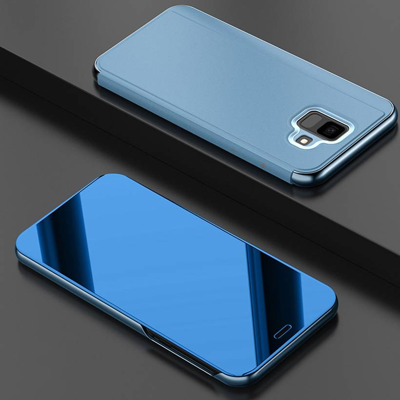 Smart Luxury Plating Mirror Flip Case For Samsung J7 J6 J5 J4 J3 J2 Pro 2018 2017 2016 2015 Prime Max Case Shockproof Bracket Samsung Case