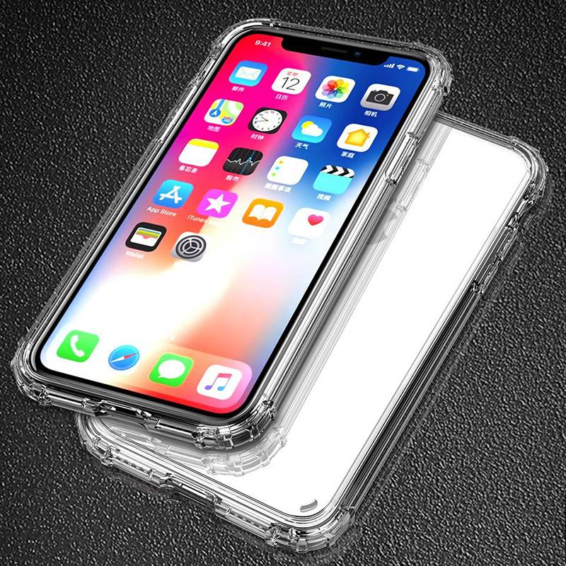 Luxury Shockproof Bumper Transparent Silicone Phone Case For iPhone X XS XR XS Max 8 7 6 6S Plus Clear protection Back Cover iPhone Case