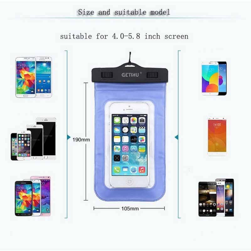 Universal Waterproof Case For iPhone X XS MAX 8 7 6 s 5 Plus Cover Pouch Bag Cases For Phone Coque Water proof Phone Case iPhone Case