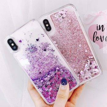 Love Heart Liquid Quicksand Soft Case for Samsung Galaxy J4 J6 A6 A8 2018 S8 S9 Plus S7 Edge J1 J3 J5 J7 2016 A3 A5 2017 Cases iPhone Case