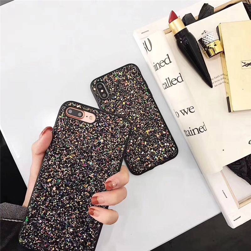 Luxury Fashion Glitter Shining Cases For iPhone 6 6S 7 plus 8Plus TPU Cover Back For iPhone X 6 7 8 Plus phone Case iPhone Case