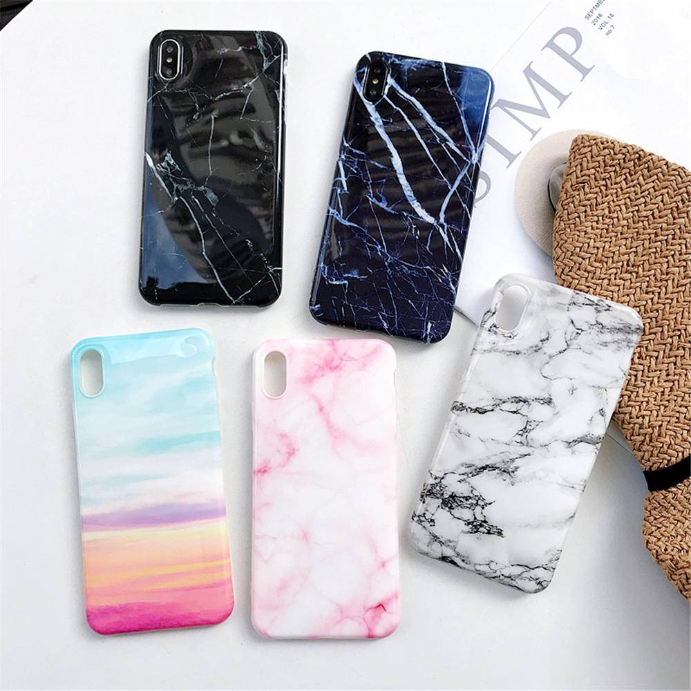Luxury Marble Silicone Phone Case For Coque iphone XS Max X XR 7 8 6 6S Plus Case Soft TPU Back Cover For iphone 8 7 Plus Funda iPhone Case