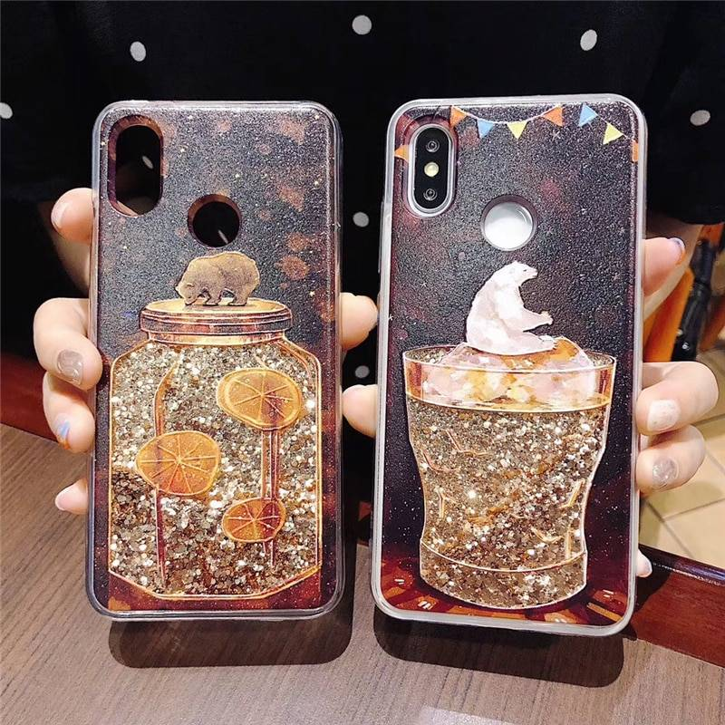Case Unicorn Whale Camera Dynamic Quicksand Glitter Bling Soft Silicone Cover for iPhone X 7 8 Plus 6 6S XS Max XR iPhone Case