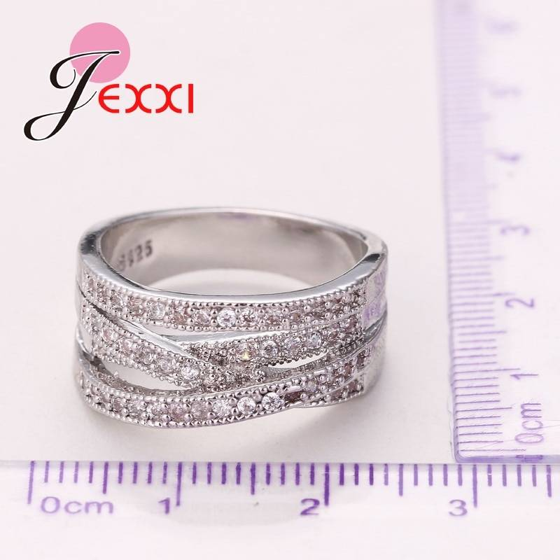 New Fashion Rings For Women Party Elegant Luxury Bridal Jewelry 925 Sterling Silver Wedding Engagement Ring High Quality Rings
