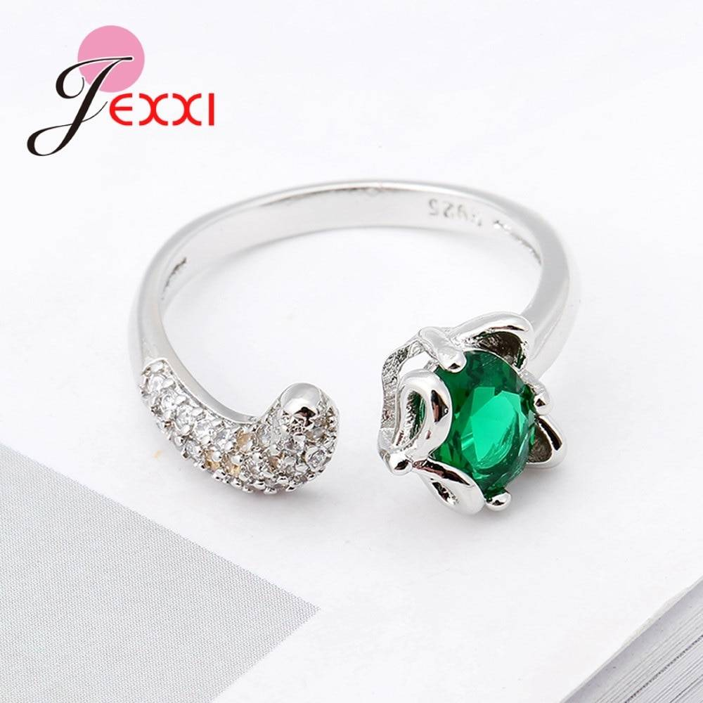 Fashion Fox Open Ring With shiny CZ Charm 925 Sterling Silver Women Appointment Jewelry Romantic Gift High Quality Rings