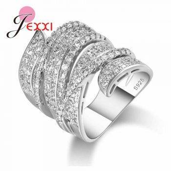 Luxury Charm Big Ring for Women Wedding Appointment Jewelry High Quality Lover Girlfriend Birthday Gift Popular Sale Rings