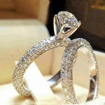Zircon Silver Couple Rings Wedding Ring for Women and Men Engagement Ring Men Bague Femme Rings