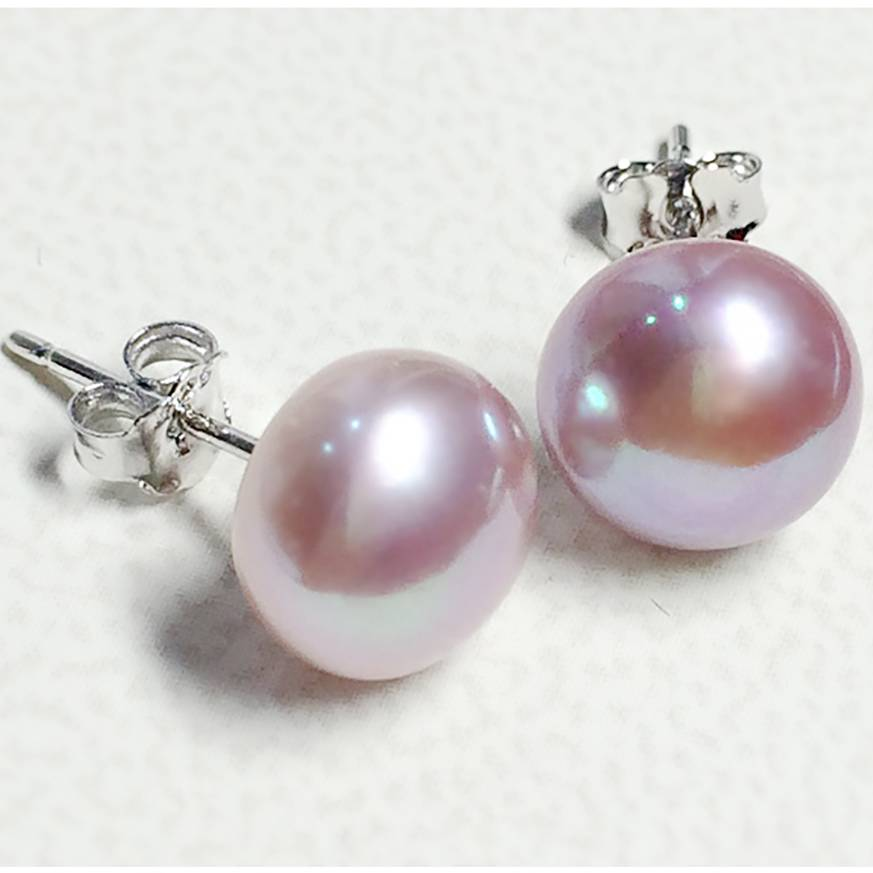 100% Genuine Freshwater Pearl white pink purple blue Silver Stud Earrings Fashion Jewelry for Women Super Deal Earrings Wedding & Engagement Jewelry
