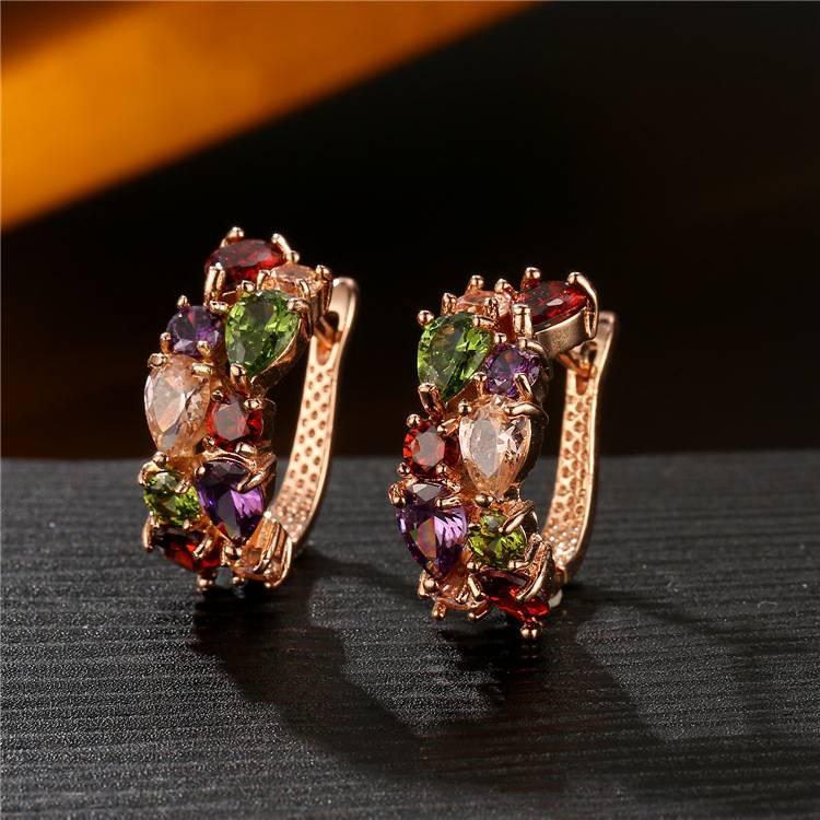Mona Lisa Feather Crystal from Swarovski new fashion creative Woman Twins Earrings micro hot jewelry Earrings
