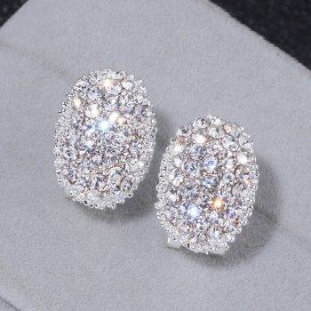 Classic Design Romantic Jewelry 2018 Silver Color AAA Cubic Zirconia Stone Stud Earrings For Women Elegant Wedding Jewelry WX023 Earrings Wedding & Engagement Jewelry