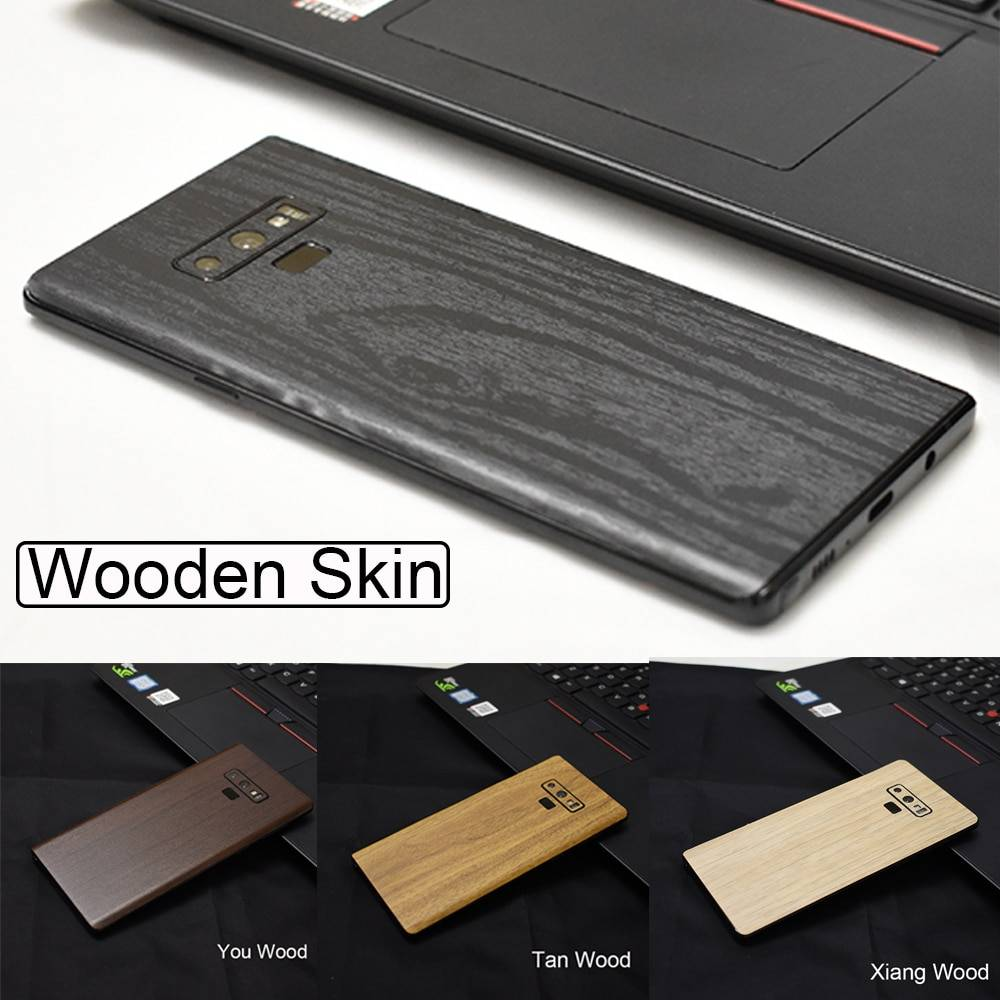 Samsung Galaxy Note 9 8 S8 S9 Leather Carbon Fiber Wood Skins Protective Sticker For Samsung S9 S8 Plus S10e S10+ Samsung Case