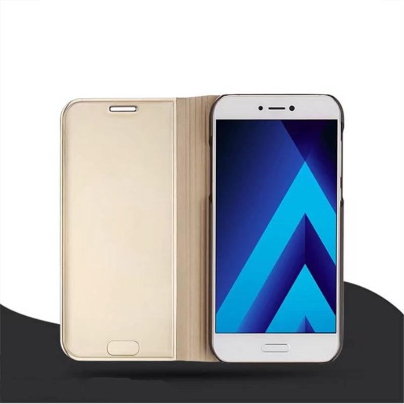 Luxury Leather Smart Flip Mirror Phone Case For Samsung Galaxy S9 S8 Plus S7Edge S6Edge Note 8 J5 J7 2017 Case Clear View Window Samsung Case