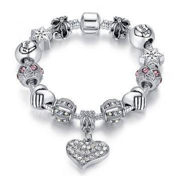 Luxury Brand Women Bracelet 925 Unique Silver Crystal Charm Bracelet for Women DIY Beads Bracelets & amp; Bangles Jewelry Gift Bracelets
