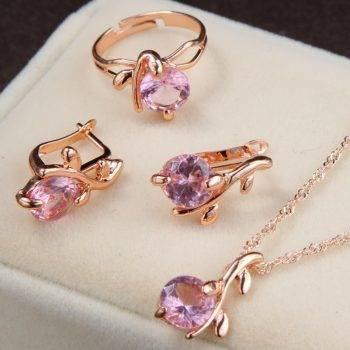 jewelry sets african bridal gold color necklace earrings Ring wedding crystal sieraden women fashion jewellery set Jewelry Set