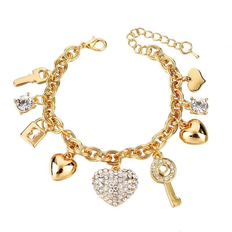 Bracelets Bangles For Women Gold Color Bracelet Austrian Crystal Chain Pulseras Bracelets