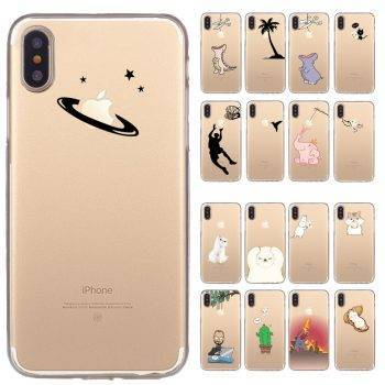 Pink Cute Elephant Soft TPU Phone Case For Apple iPhone X XS Max XR Case Eat For iPhone 8 7 6S Plus 5S SE Cases Coque Capa iPhone Case
