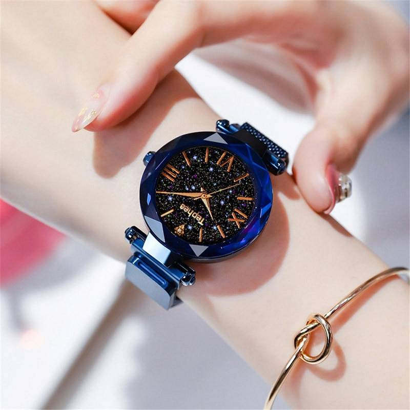 Luxury Women Watches Magnetic Starry Sky Female Clock Quartz Wristwatch Fashion Ladies Wrist Watch reloj mujer relogio feminino Women's Watches