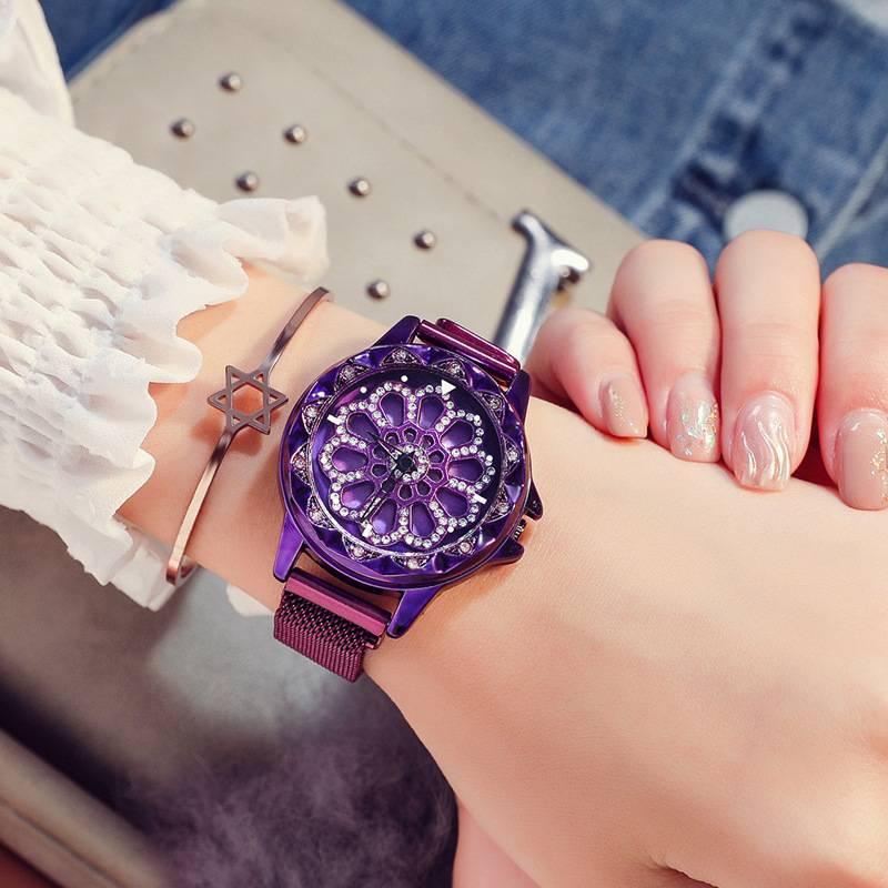 Luxury Quartz Watches Women Mesh Magnetic Stainless Steel Bracelet 2019 Women's Watches