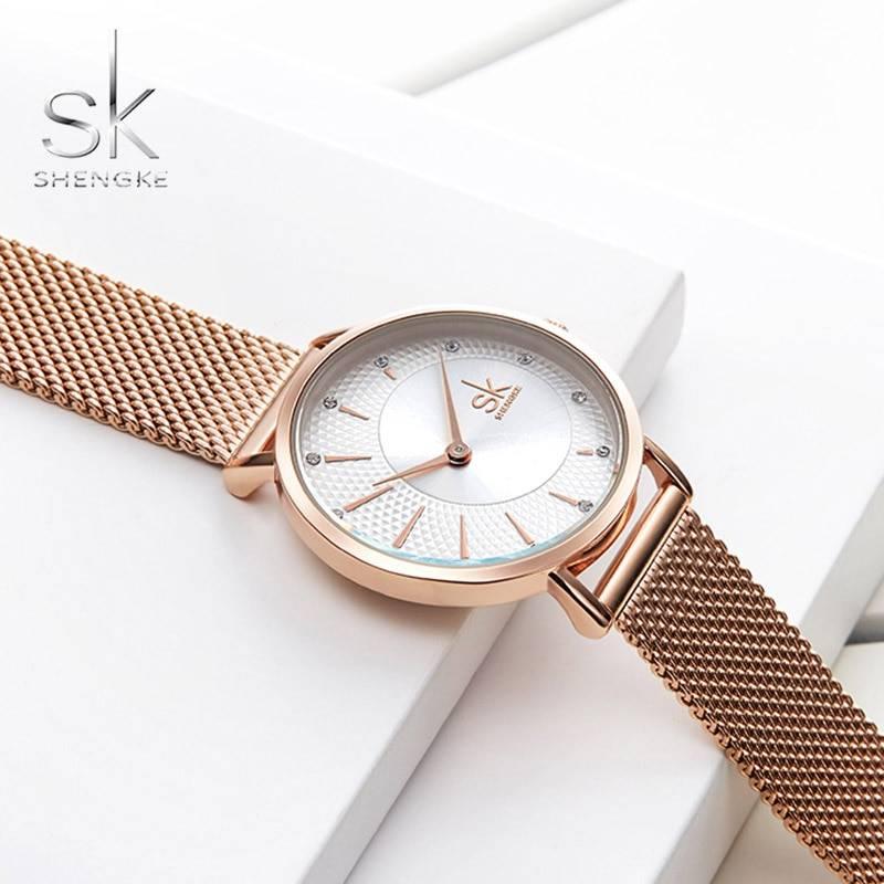 SHENGKE SK Women Watch Top Brand Luxury 2019 Rose Gold Women Bracelet Watch For Ladies Wrist Watch Montre Femme Relogio Feminino Women's Watches