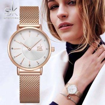 SHENGKE SK Women Watch Top Brand Luxury 2019 Rose Gold Women Bracelet Watch For Ladies Wrist Watch Montre Femme Relogio Feminino Women's Watches