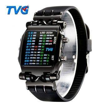 Luxury Brand TVG Watches Men Fashion Rubber Strap LED Digital Watch Men Waterproof Sports Military Watches Relogios Masculino Men's Watches