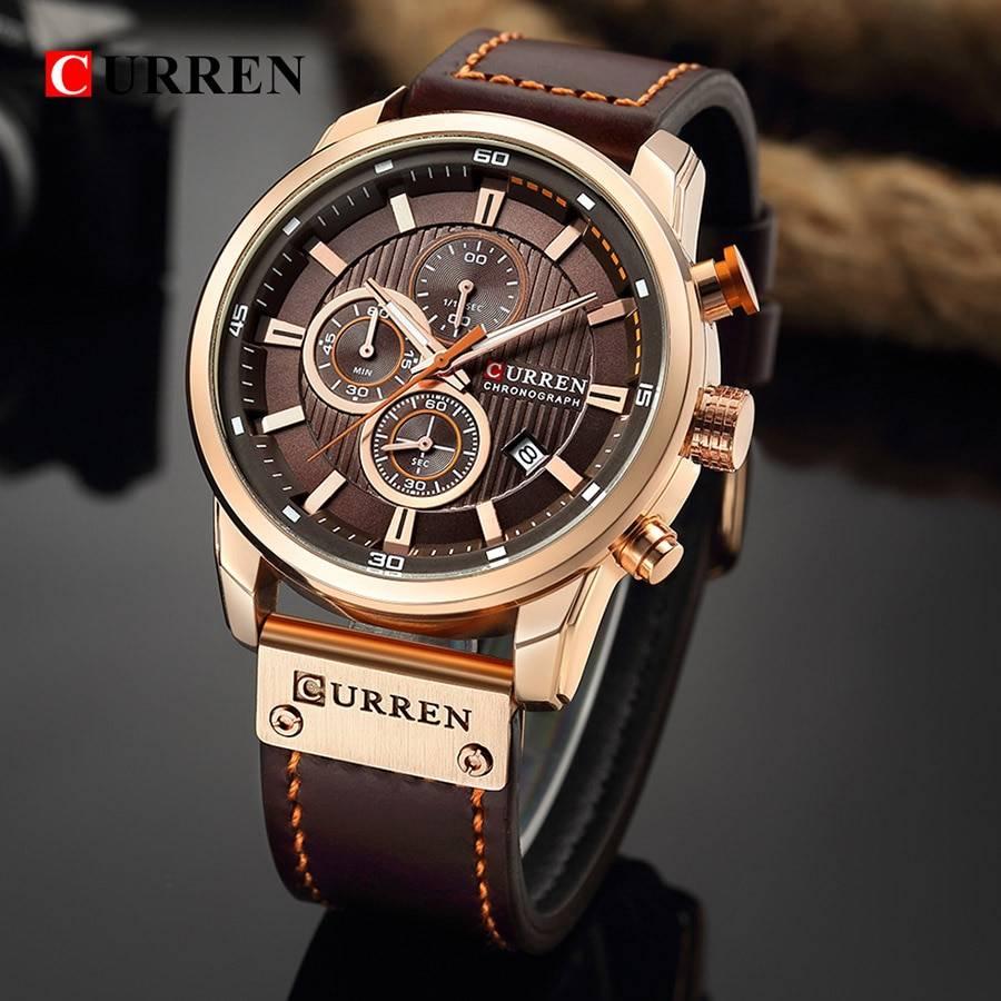 Curren Watch Top Brand Man Watches with Chronograph Sport Waterproof Clock Man Watches Military Luxury Men's Watch Analog Quartz Men's Watches