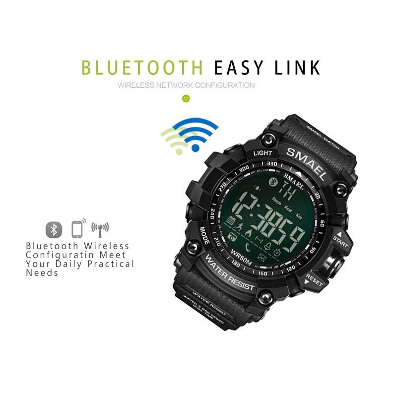 Mens Chronograph Watches Sport Male Clock Stop Army Military Watch Men Multifunction Waterproof LED Digital Watch for Man Men's Watches