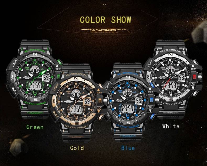 Men Fashion Watch Sports Military Style Man Luxury Analog Electronic Quartz Digital Dual Display Watches Relogio Masculino Men's Watches