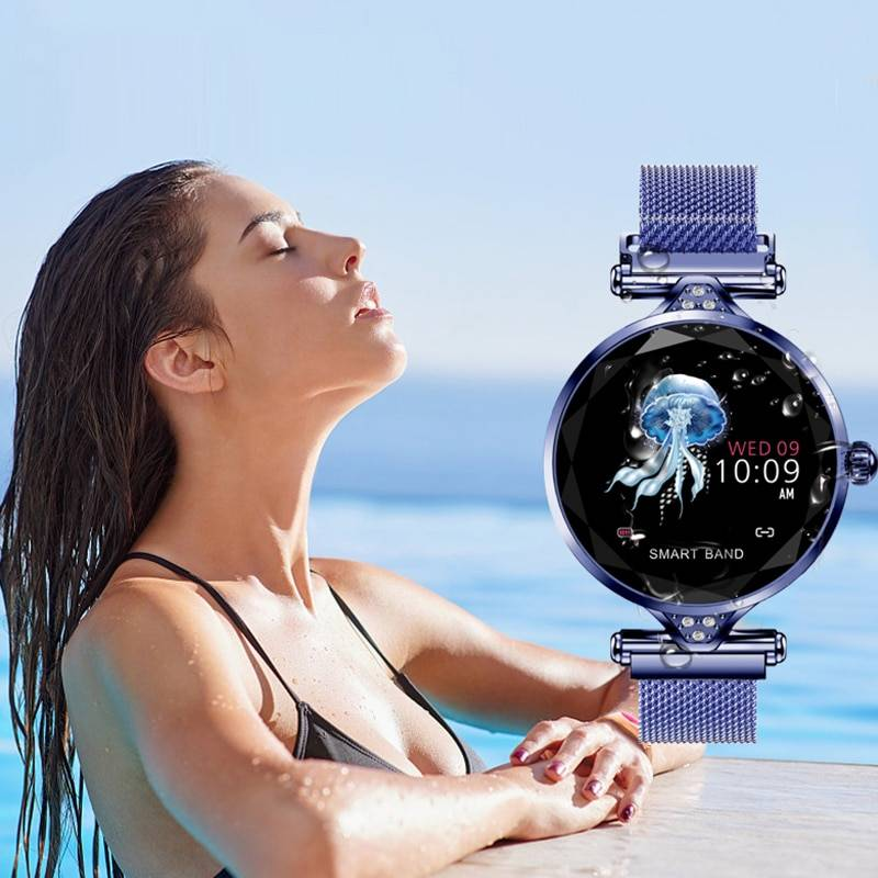 2019 New Women Fashion Smartwatch Wearable Device Bluetooth Pedometer Heart Rate Monitor For Android/IOS Smart Bracelet Women's Watches